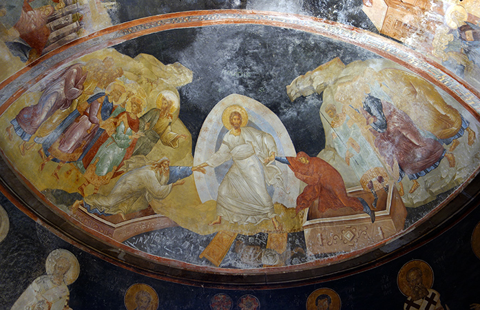 Anastasis (Harrowing of Hell), c. 1310-20, fresco, Church of the Holy Savior of Chora/Kariye Museum, Istanbul