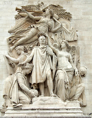Jean-Pierre Cortot, The Apotheosis of Napoleon I (The Triumph of 1810), 1833–1836, limestone, Arc de Triomphe de l'Étoile, Paris (photo: falling_angel, CC BY-NC-ND 2.0)