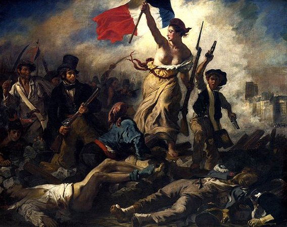 Eugène Delacroix, Liberty Leading the People, 1830, oil on canvas, 260 x 325 cm (Musée du Louvre, Paris)