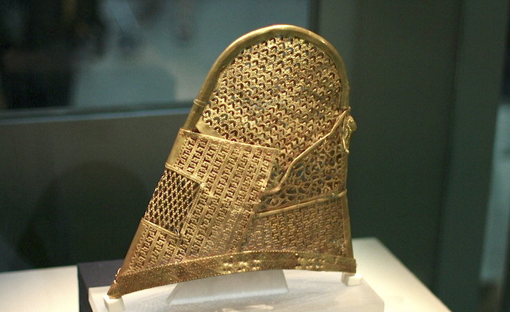 Conical Cap, Silla kingdom, 5th–6th century, gold, found in the Cheonmachong (Flying Horse) Tomb, (Gyeongju National Museum, Korea, National Treasure #189)