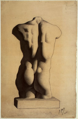 Pablo Picasso age 12 or 13, Study of a Torso, After a Plaster Cast, 1893-94 (Musée Picasso, Paris)
