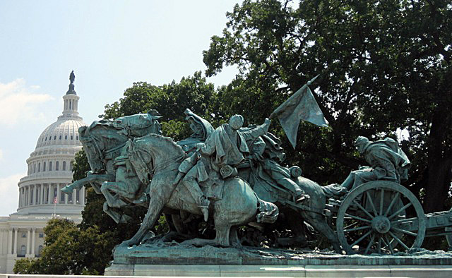 Henry Merwin Shrady (sculptor) and William Pearce Casey (architect), Artillery, 1912, marble and bronze, Washington D.C.