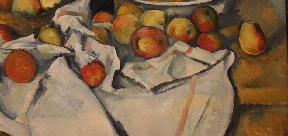 Detail, Paul Cézanne, The Basket of Apples, c. 1893, oil on canvas, 65 x 80 cm (Art Institute of Chicago)