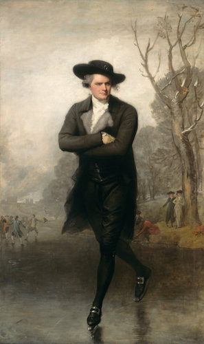 Gilbert Stuart, The Skater (Portrait of William Grant),1782, oil on canvas, 235.5 x 147.4 cm (National Gallery of Art)