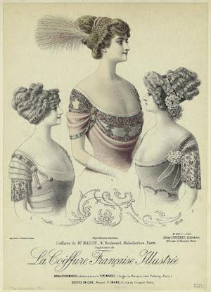 """Georges Girard, """"La Coiffure Française Illustrée,"""" c. 1900"""