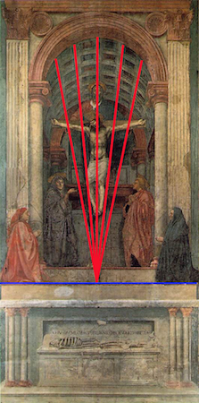 Image result for holy trinity masaccio linear perspective