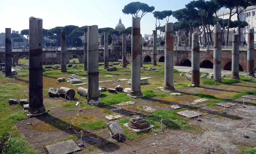 Remains of the Basilica Ulpia (photo: Steven Zucker, CC BY-NC-SA 2.0)