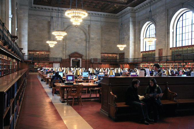 Main reading room, The New York Public Library, New York, NY (photo: endymion, CC BY 2.0)