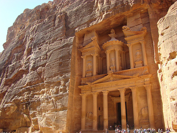 The so-called Treasury (Khazneh), of Petra (Jordan), 2nd century C.E. (photo: Richard White, CC BY-NC-ND 2.0)