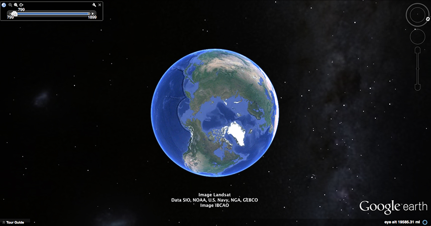 Google Earth; data SIO, NOAA, U.S.Navy, NGA, GEBCO, image; Landsat, Image IBCAO; Image U.S. Geological Survey