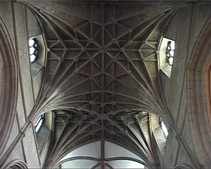 Lierne vaults Gloucester Cathedral.
