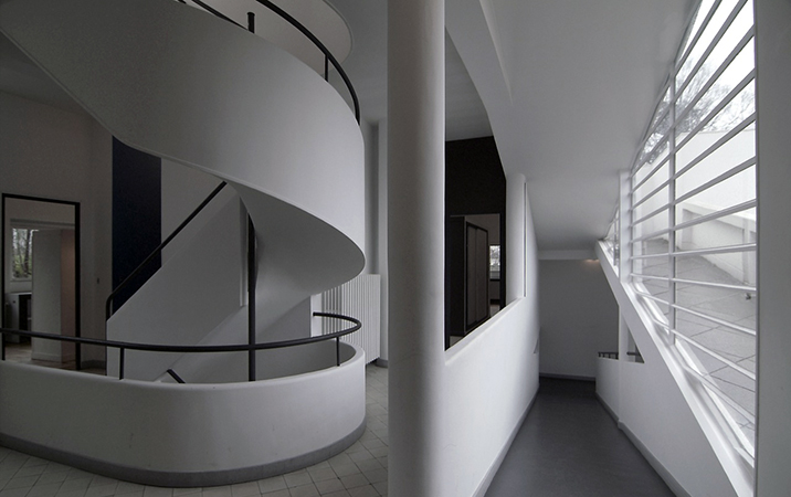 Ramp and spiral staircase, Le Corbusier, Villa Savoye, Poissy, France, 1929 (photo: Scarletgreen, CC BY 2.0)