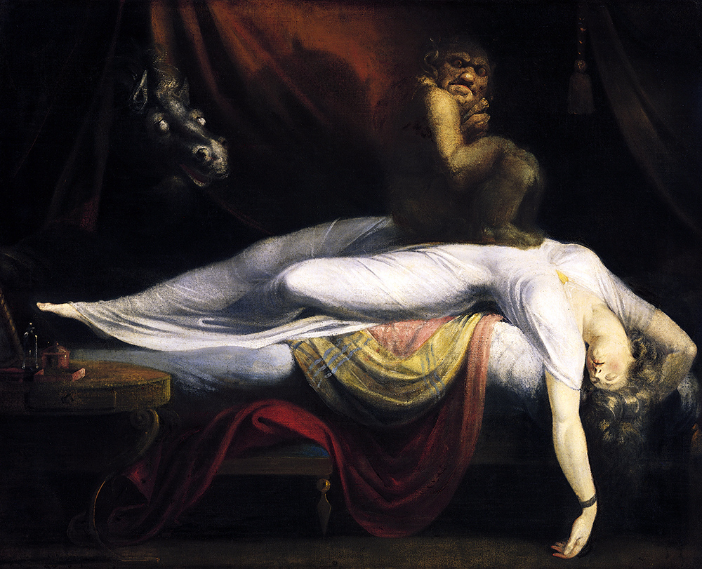 Henry Fuseli, The Nightmare, 1781, oil on canvas, 180 × 250 cm (Detroit Institute of Arts)