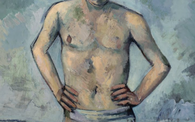Arms and torso (detail), Paul Cézanne, The Bather, 1885-86, oil on canvas, 127 x 96.8 cm (The Museum of Modern Art)