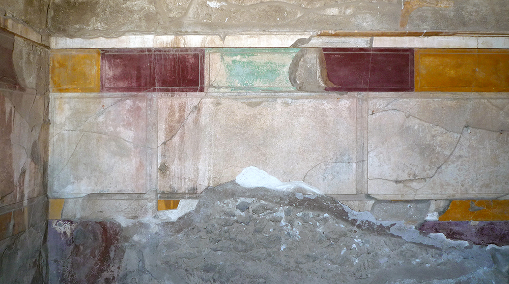 Example of First Style painting, House of the Faun, Pompeii, built 2nd century, B.C.E.