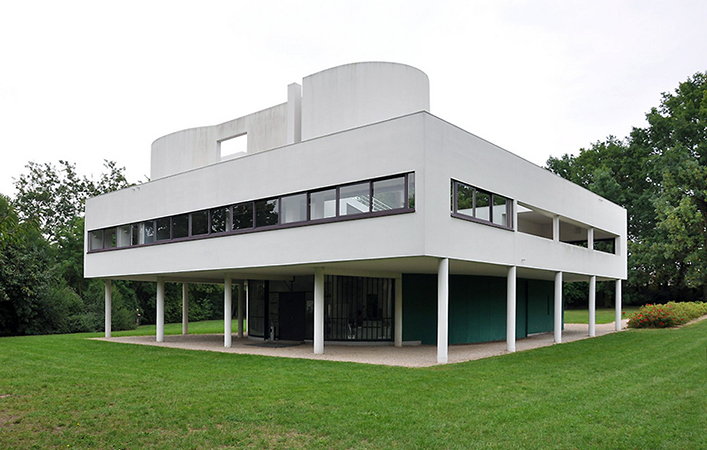 Le corbusier villa savoye architecture and design khan academy - Le corbusier design style ...