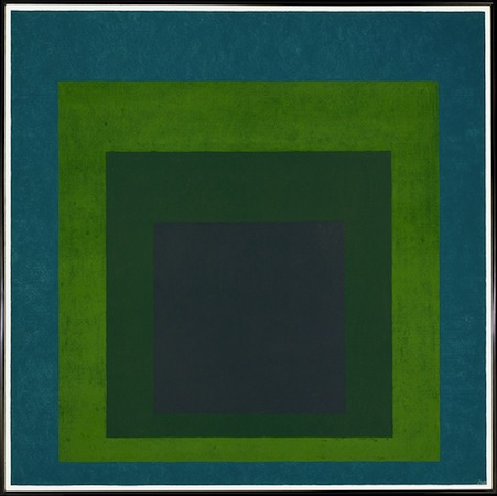 Josef Albers, Homage to the Square: Soft Spoken, 1969, oil on masonite, 121.9 x 121.9 cm (The Metropolitan Museum of Art, New York)