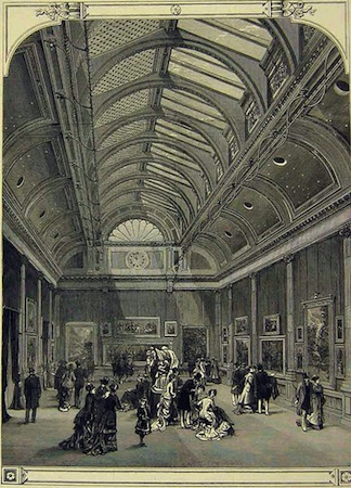 The Grosvenor Gallery of Fine Art, May 5 1877, engraving, from the Illustrated London News
