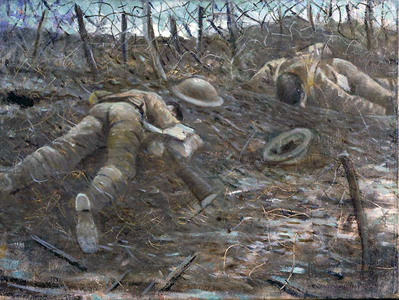 C.R.W. Nevinson, Paths of Glory, 1917, oil on canvas, 46.7 x 60.9 cm (Imperial War Museum, London)