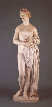John Gibson, <em>The Tinted Venus</em>, c. 1851-56, marble, 175 cm (Walker Art Gallery, Liverpool, England)