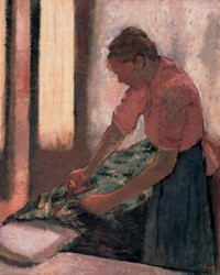 Edgar Degas, Woman Ironing, oil on canvas, ca. 1890 (Walker Art Gallery, Liverpool)