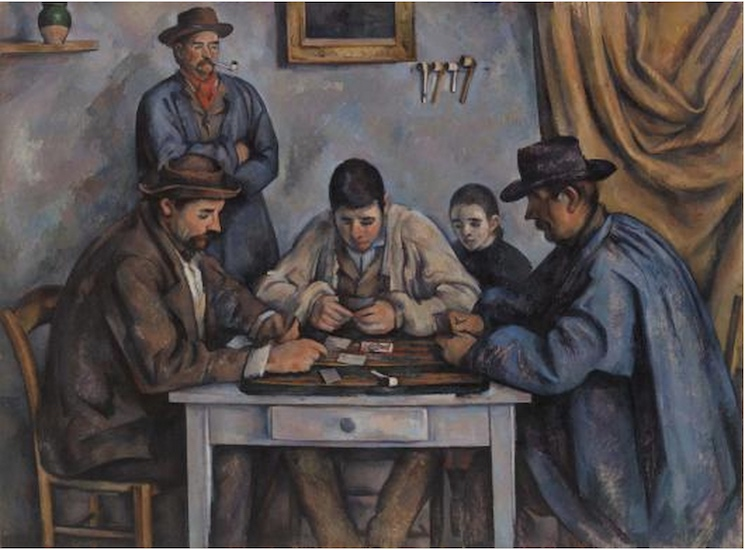 Paul Cézanne, *The Card Players (Les Joueurs de cartes), *1890-92, oil on canvas, 135.3 x 181.9 cm (The Barnes Foundation)