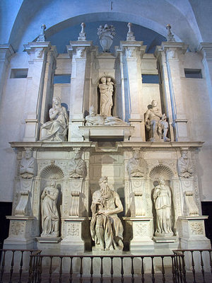 Michelangelo, Tomb of Pope Julius II, 1505-1545, marble (San Pietro in Vincoli, Rome (photo: Jean-Christophe BENOIST, CC BY 3.0)