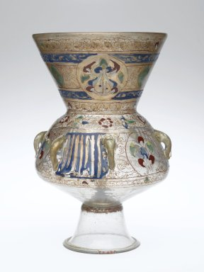 Mosque lamp, Syria, 13th-14th century (Brooklyn Museum)