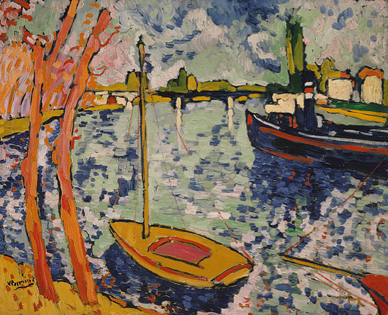 Maurice de Vlaminck, The River Seine at Chatou, 1906, oil on canvas, 82.6 x 101.9 cm (The Metropolitan Museum of Art, New York)