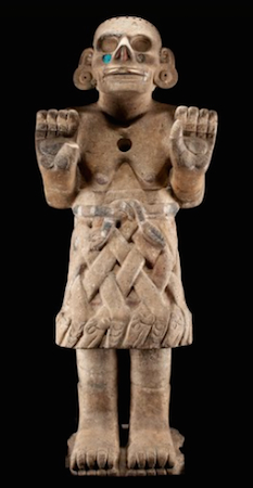 Coatlicue de Cozcatlán, c. 1500, Mexica (Aztec), 115 cm high (National Museum of Anthropology, Mexico City)
