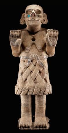 Coatlicue de Cozcatlán, c. 1500, Mexica (Aztec), 115 cm high (National Museum of Anthropology, Mexico City)