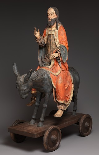 Palmesel (or palm donkey, refers to the statue of Jesus on a donkey), 15th century, German, limewood with paint, 156.2 x 60.3 cm (The Metropolitan Museum of Art, New York)