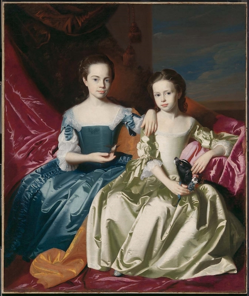 John Singleton Copley, Mary and Elizabeth Royall, c. 1758, oil on canvas, 145.73 x 122.24 (Museum of Fine Arts, Boston)