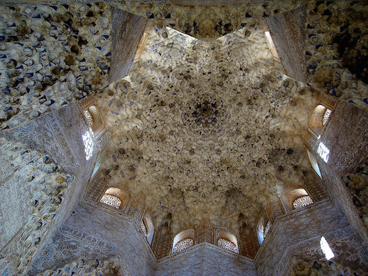 Ceiling, Hall of the Kings, Alhambra (photo: Guacamoliest, CC BY-NC 2.0)