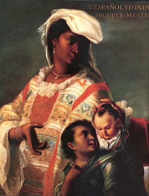 Detail, Spaniard and Indian Produce a Mestizo, attributed to Juan Rodríguez Juárez, c. 1715, oil on canvas (Breamore House, Hampshire, UK)