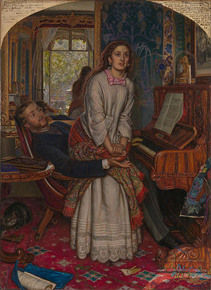 William Holman Hunt, The Awakening Conscience, 1853, oil on canvas, 76.2 x 55.9 cm (Tate Britain, London)