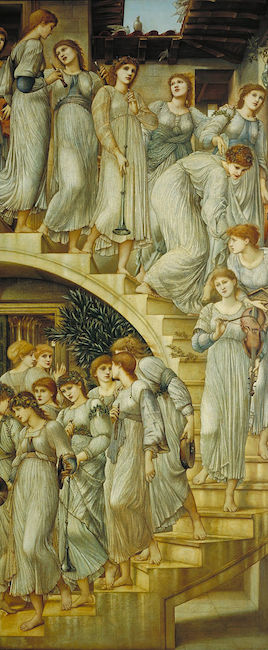 Sir Edward Coley Burne-Jones, The Golden Stairs, 1880, oil on canvas, 269.2 x 116.8 cm (Tate Britain)