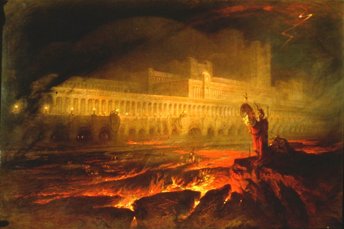 John Martin, Pandemonium, 1841, oil on canvas, 123 x 184 cm (Private Collection)