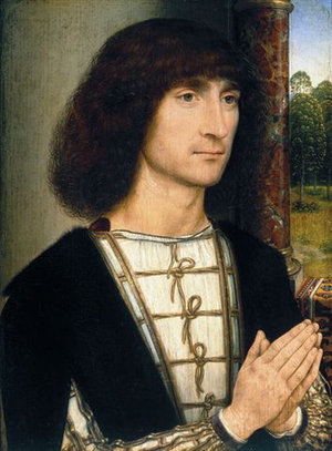 Hans Memling, Portrait of a Young Man at Prayer, c. 1485-1494, oil on oak panel (Museo Thyssen-Bornemisza, Madrid)