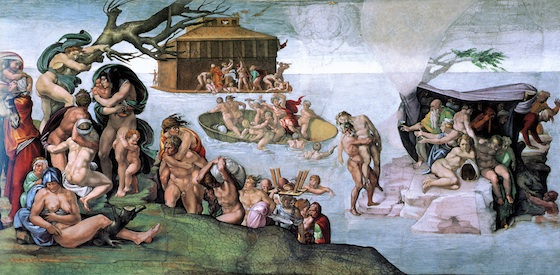 Michelangelo, The Deluge, Ceiling of the Sistine Chapel, 1508-1512, fresco (Vatican City, Rome)
