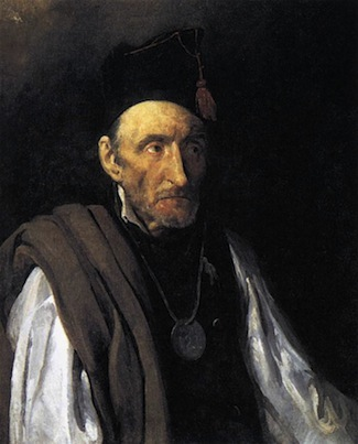 Théodore Géricault, Portrait of a Man Suffering from Delusions of Military Command, 1822, oil on canvas, 81 x 65 cm (Sammlung Oskar Reinhart, Winterthur, Switzerland)