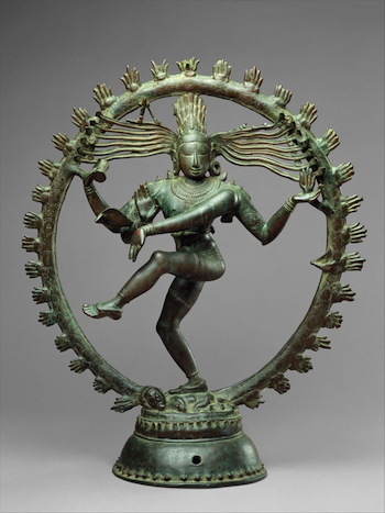 Shiva as Lord of the Dance (Nataraja), c. 11th century, Copper alloy, Chola period, 68.3 x 56.5 cm (The Metropolitan Museum of Art)