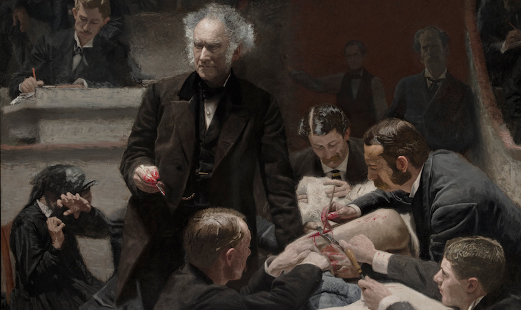 Dr. Gross (detail), Thomas Eakins, The Gross Clinic, 1875, oil on canvas 