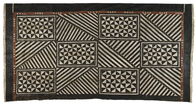 Masi (tapa cloth), likely used as a room divider, Fiji, date unknown, 300 x 428 (Te Papa, New Zealand)