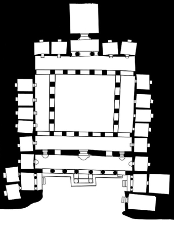 Plan of Cave 1 (diagram: Erik128, CC: BY-SA 3.0)