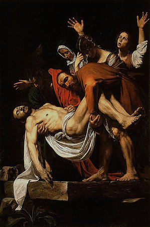 Michelangelo Merisi da Caravaggio, Deposition (or Entombment), c. 1600-04, oil on canvas, 300 x 203 cm (Pinacoteca Vaticana, Vatican City)