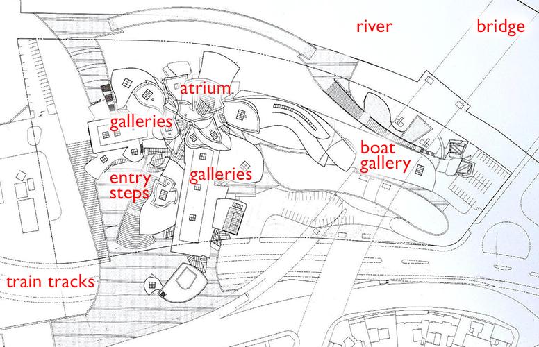 Frank Gehry, Guggenheim Museum Bilbao plan