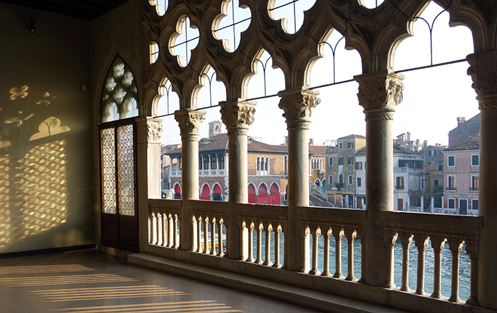 View from middle balcony, Ca' d'Oro, 1422-1440, Venice