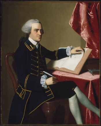 John Singleton Copley, John Hancock, 1765, oil on canvas, 124.8 x 100 cm (Museum of Fine Arts, Boston)