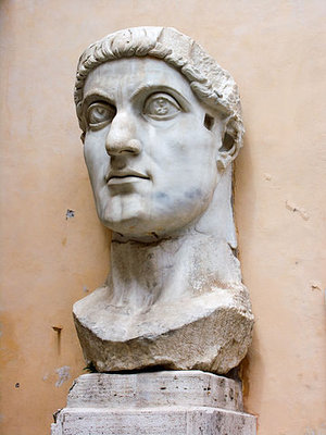 Colossal statue of Constantine the Great, 4th century (Capitoline Museum, Rome) (photo: Jean-Christophe BENOIST CC BY 2.5)